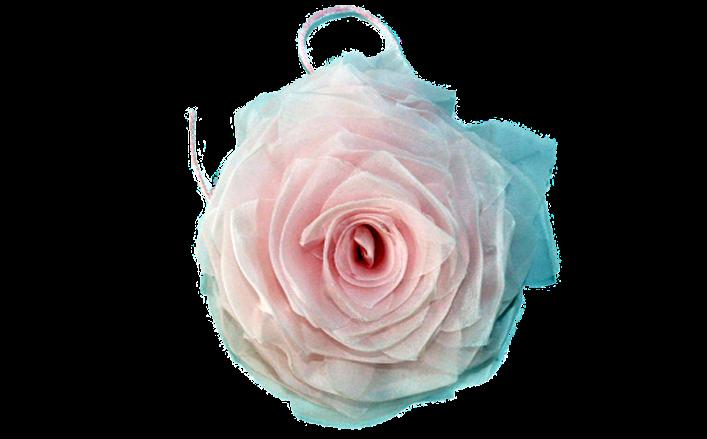 Rosa in organza ROSALINDA cm14