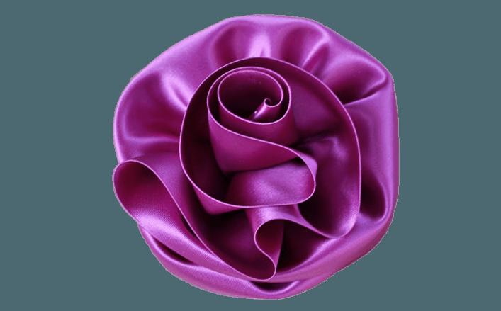 Rosa girata in raso CHERRY cm07