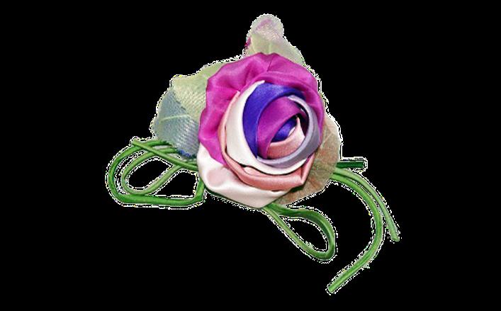 Rosa in organza e raso MANRICA cm8