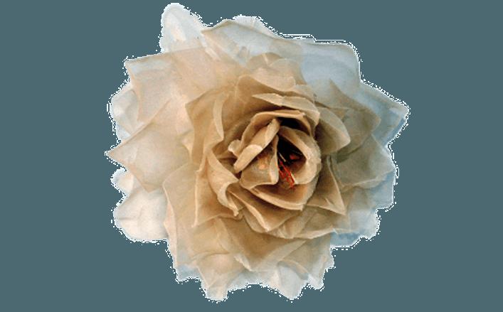 Rosa in organza START cm12