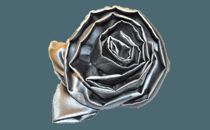 Rosa girata in raso CECILIA cm8