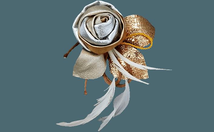 Rosa oro girata in pelle CARRIE cm08