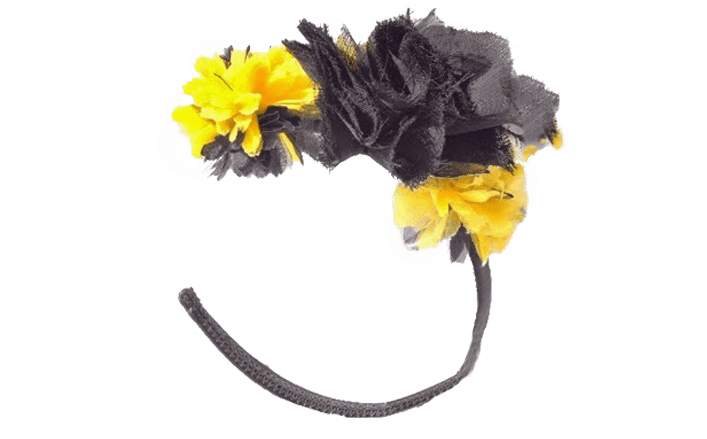 Cerchietto fiori in organza MILENA