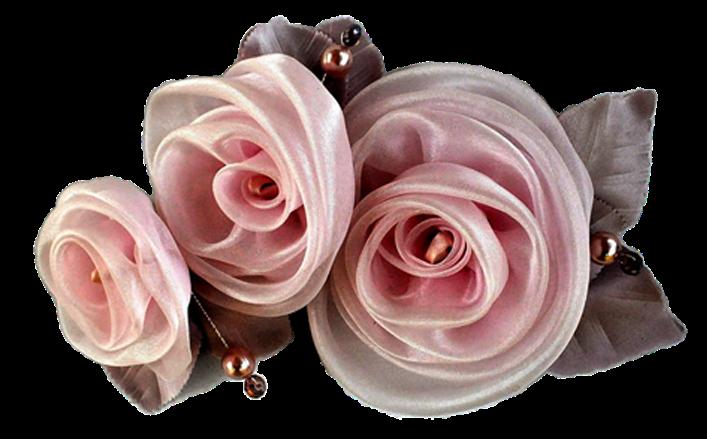 Tralcio di rose girate in organza MAKA NANI cm20