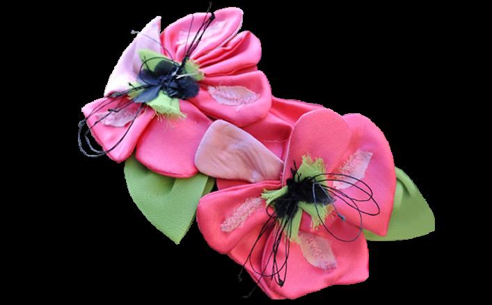 Cerchietto fiori in seta DOLORES var.1
