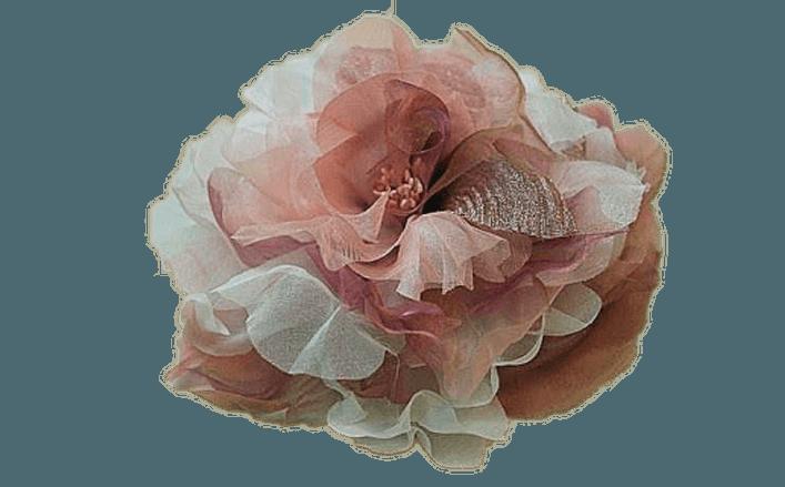 Peonia in seta doppio colore COLOMBE cm12