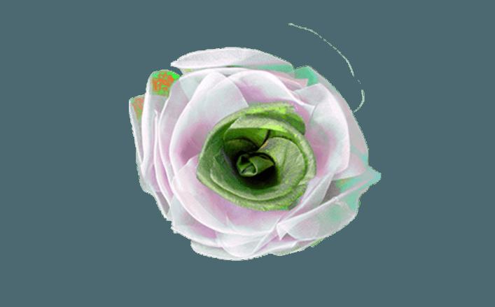 Rosa in organza SHER VAR cm6