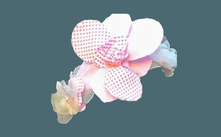 Cerchietto fiori in cotone MORGANA