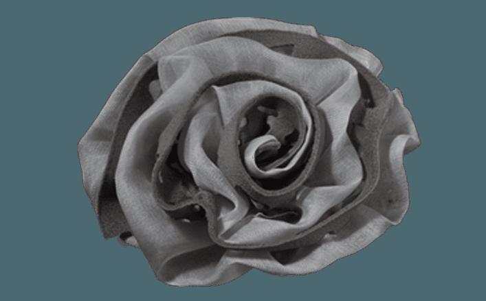 Rosa girata in organza ADDEY cm06