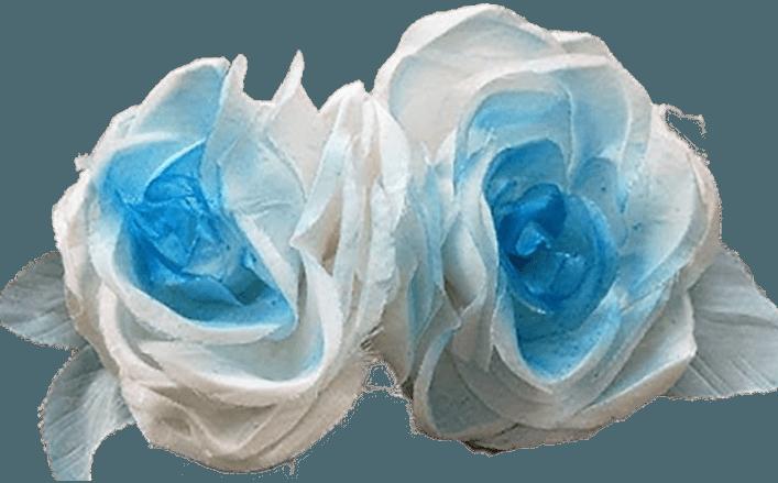 Tralcio rose celeste raso sfumato HENNIE cm20