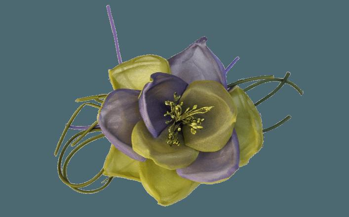 Rosa in seta trapuntata doppio colore AIDA cm13
