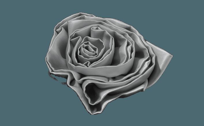Rosa girata in organza JORA cm12