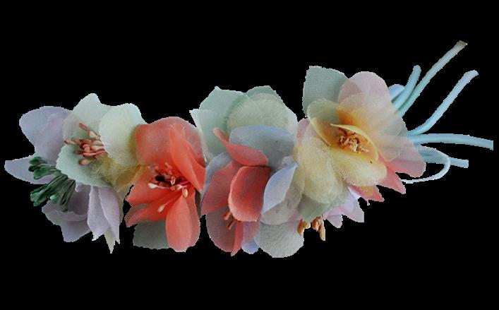 Tralcetto di fiorellini in organza sfumata ENCARNACION cm08