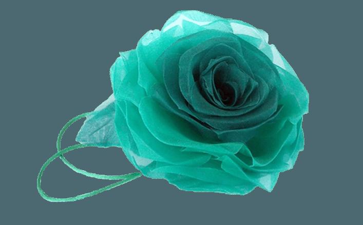 Rosa in organza SANDRINE cm12