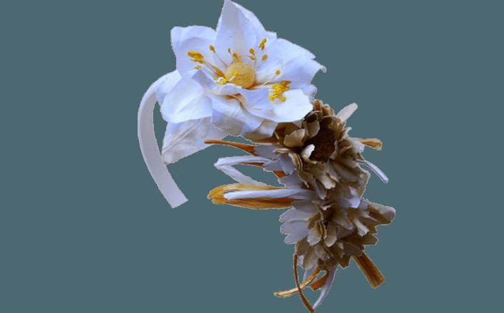 Cerchietto fiore in cotone GRACE