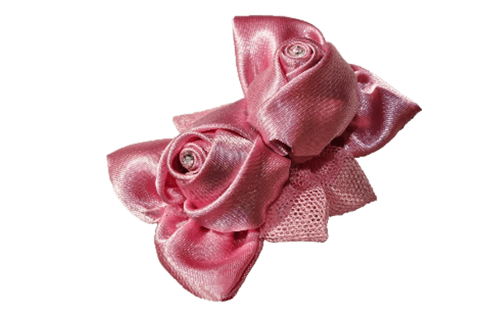 boccioli di rose girate in organza tulle CAILEY cm05