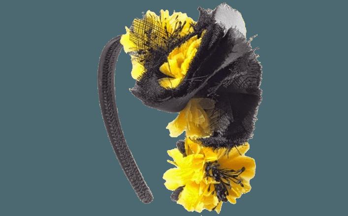 Cerchietto fiori in organza MILENA var.1