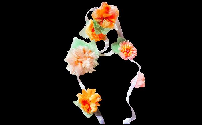 Cintina di fiorellini in raso AMATA