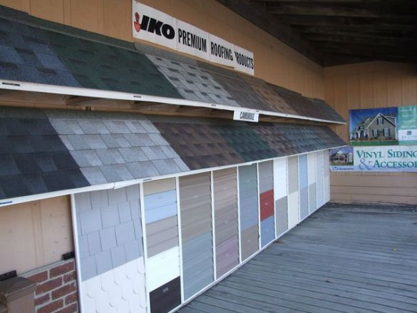 Newfane Lumber Company's selection of roofing materials