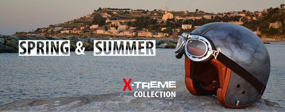 un'immagine con scritto Spring & Summer XTreme Collection e un casco con degli occhiali