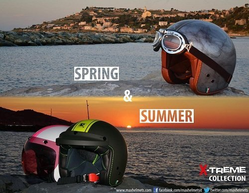 dei caschi e la scritta  Spring & Summer XTreme Collection