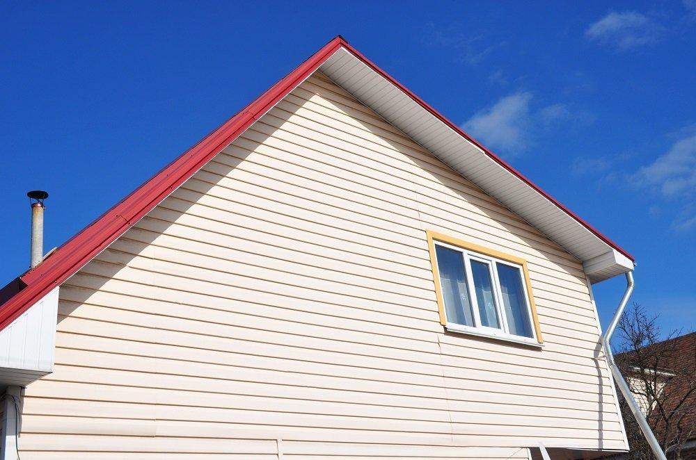 House Construction. Siding House - Vinyl Siding