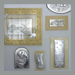 cornici argento e oro