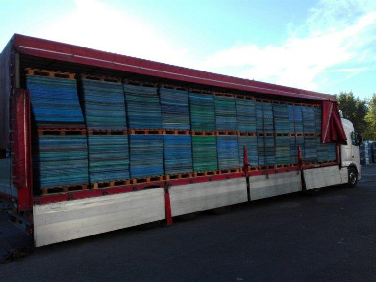trasporto merci su bancali