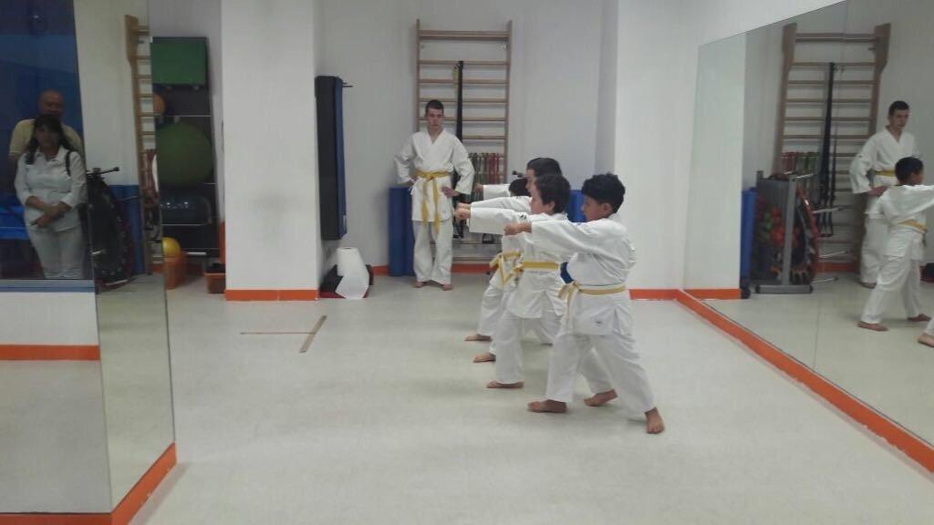 Una classe di karate per bambini