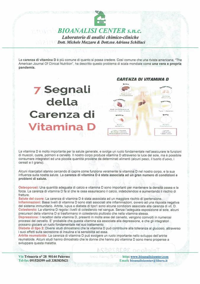 I 7 segnali della carenza di Vitamina D