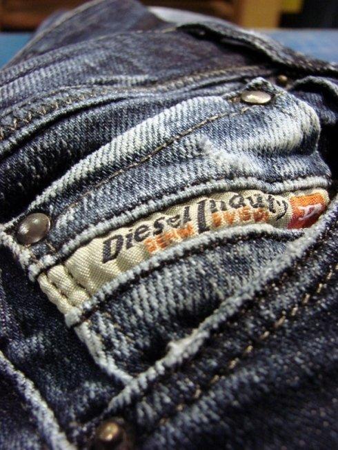Il dettaglio di un jeans Diesel