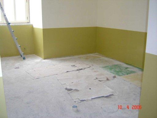 pavimento in riparazione