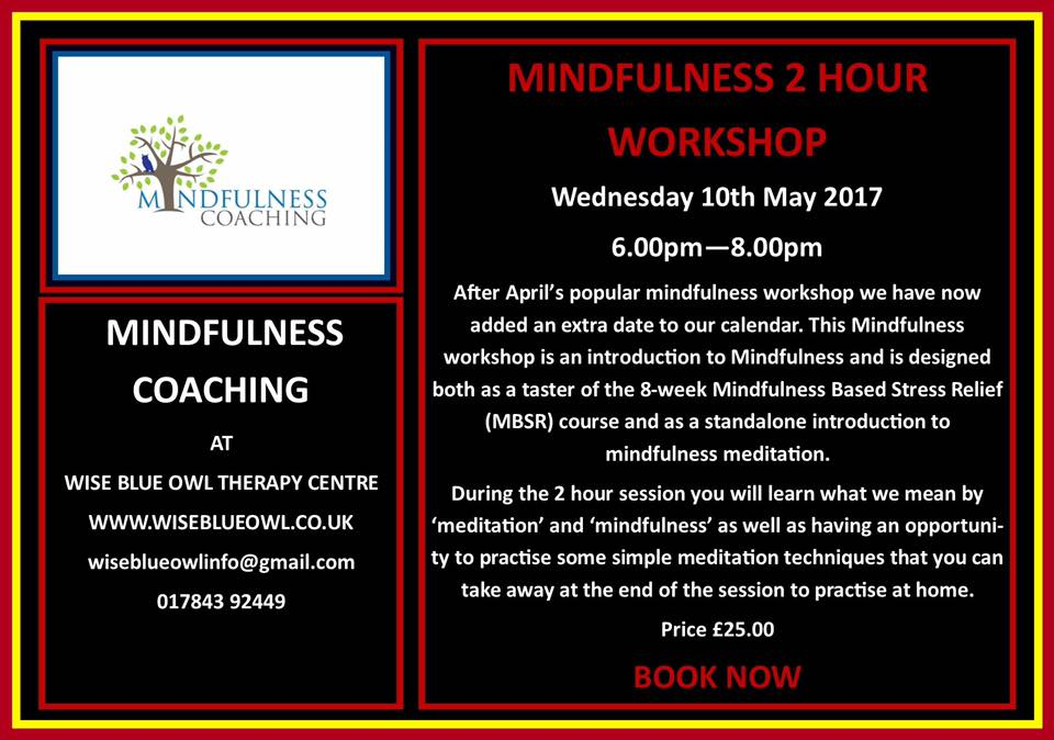 mindfulness course poster