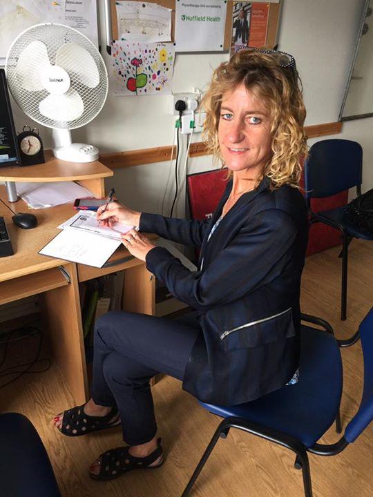 Kate sitting in Studholme medical centre