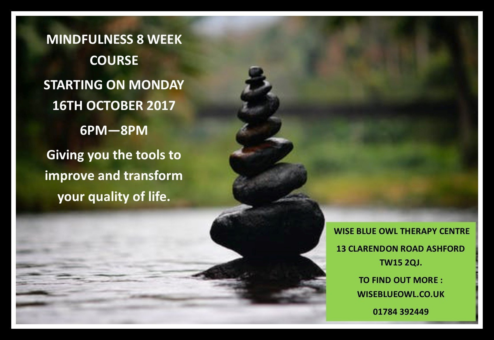 Mindfulness course in ashford surrey october 2017