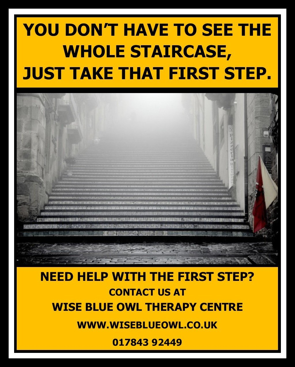 staircase to mindfulness and anxiety free