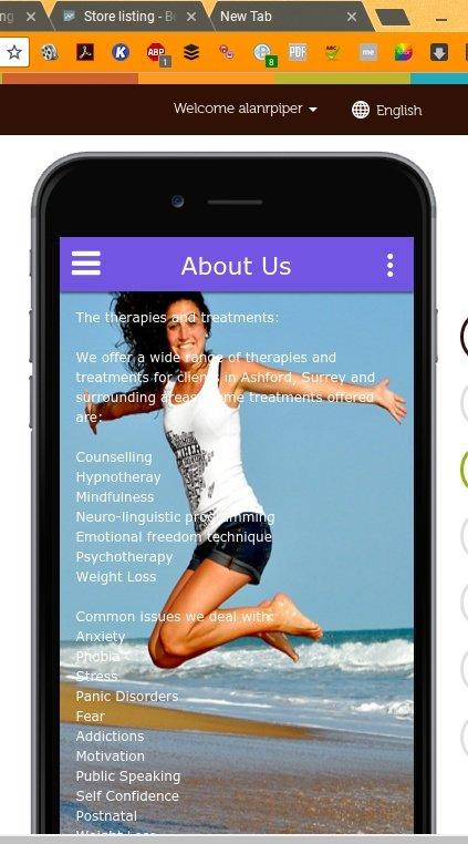 front of app download