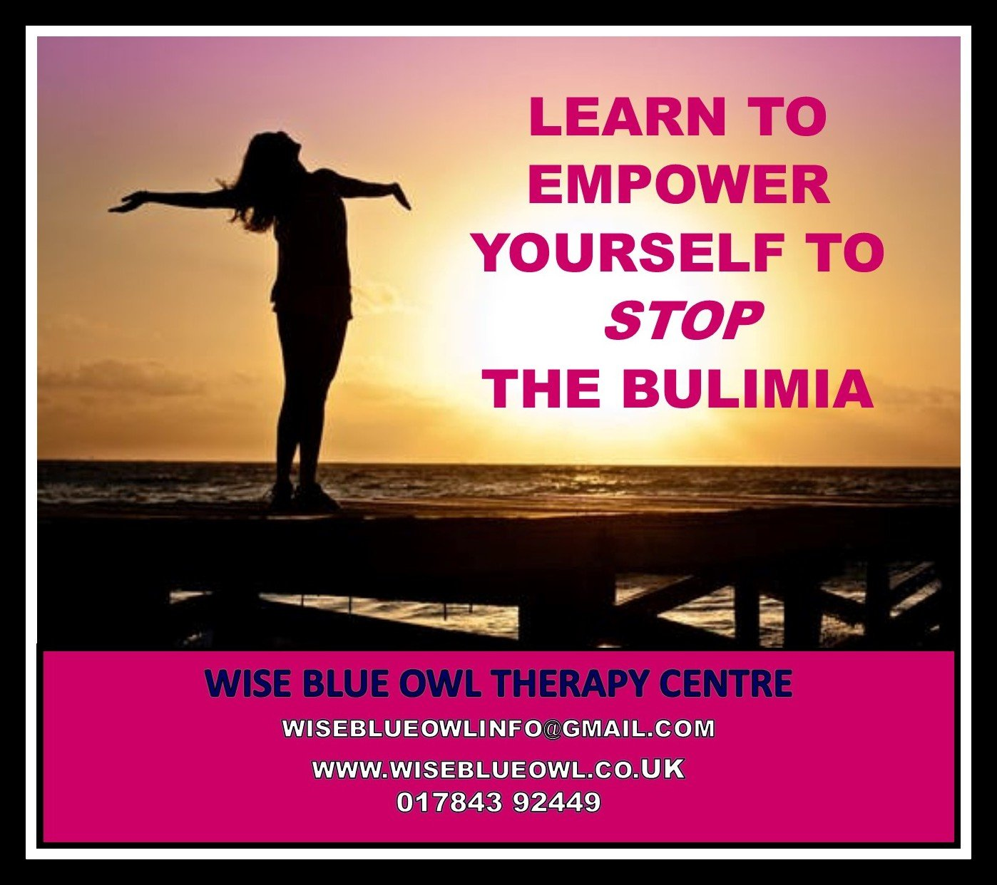 bulimia and eating disorder poster