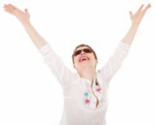 happy woman after being counselling for depression