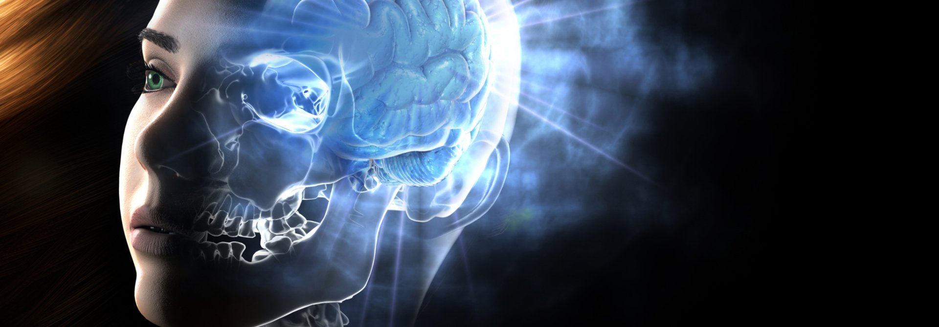 electronic head indicating clinical hypnotherapy