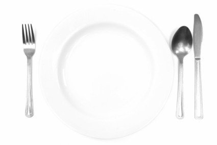 knife fork and empty plate