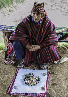 shaman doing shamanic work