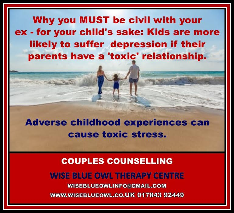 couple on the beach with children after having family counselling