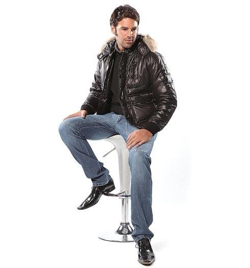 giacca imbottita nera  da uomo