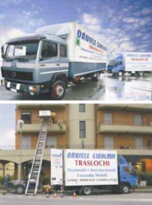 volantino pubblicitario ditta trasporti