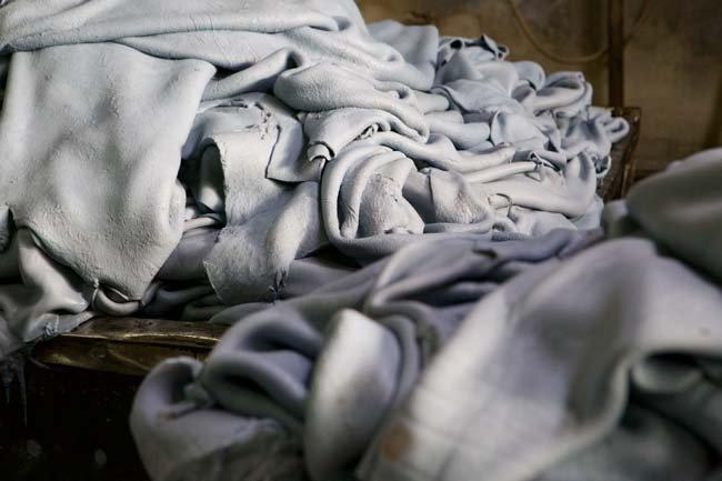 fabrics piled up