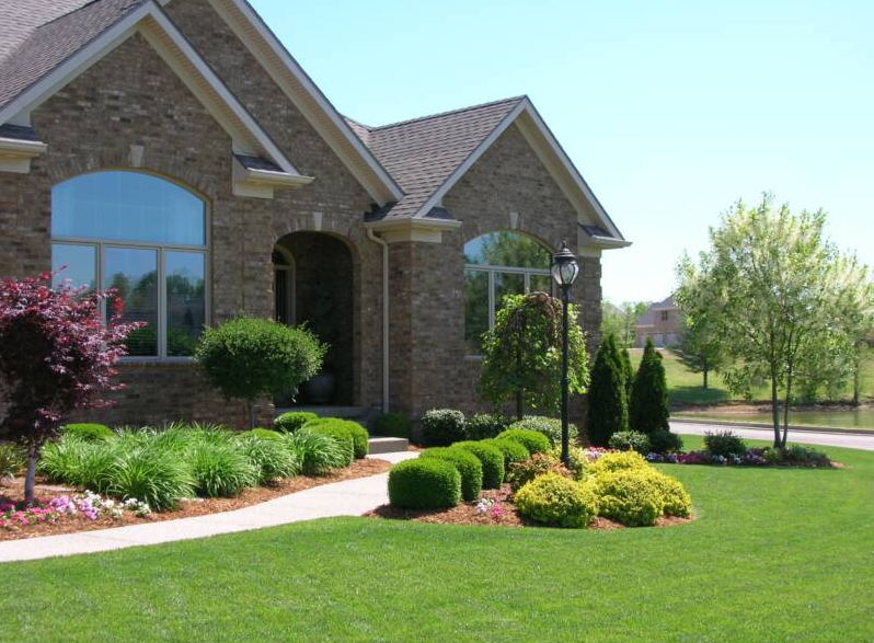 Landscaping services rendered on a home in Lexington, KY