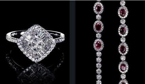 Gioielli Cielo con Rubini e diamanti