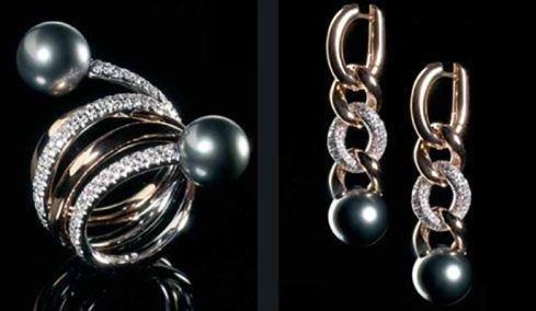 Gioielli perle scure