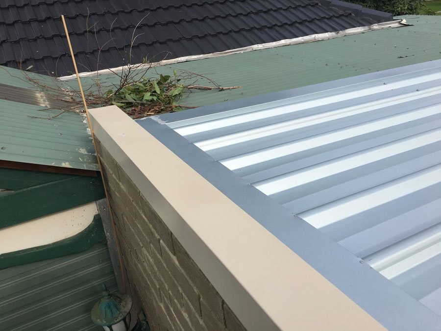 silver colorbond roof